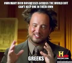 Greek Meme - irony