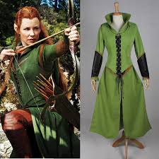 hobbit the desolation of smaug tauriel costume cosplay anime movie