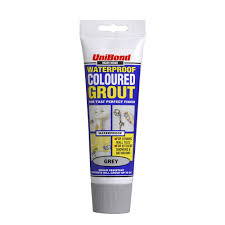 unibond waterproof ready mixed coloured grout tube grey