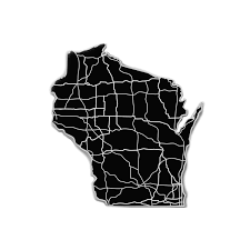 State Of Wisconsin Map by Wisconsin Acrylic Cutout State Map Modern Crowd Touch Of Modern