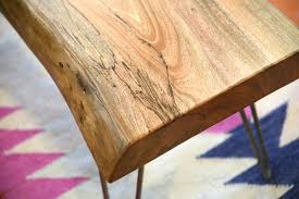 natural retro live edge coffee table woodwaves