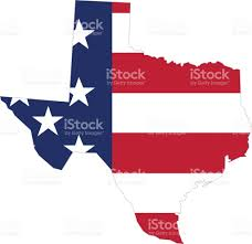 State Map Of Texas by Outline Map Of Texas State With American Flag Stock Vector Art