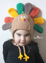 crochet turkey hat pattern repeat crafter me