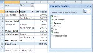 reference pivot fields and pivot items in an excel pivot table