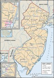 Virginia Map With Cities State And County Maps Of New Jersey