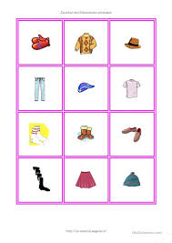 memory clothes clothes memory worksheet free esl printable worksheets made by