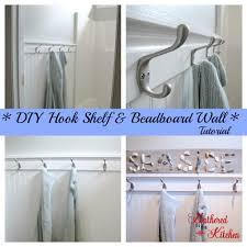 towel hook shelf u0026 beadboard wall tutorial