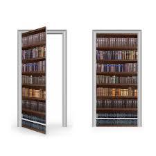 Bookcases With Doors Uk Antique Bookcase Vinyl Sticker For Door