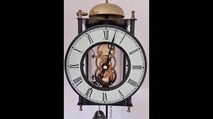 beautiful vintage chain driven skeleton wall clock pendulum youtube