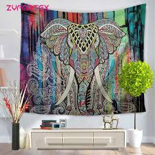 online shop zyfmptex colorful elephant indian tapestry wall