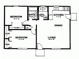 2 bedroom home floor plans eplans ranch house plan two bedroom ranch 864 square and