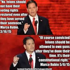 Rubio Meme - did marco rubio say felons should be barred from voting but should