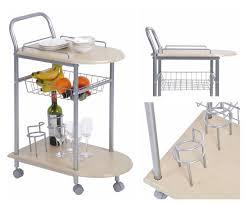 giantex 3 tiers folding steel kitchen trolley dining serving
