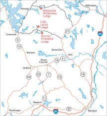 Map Maine Little Lyford Lodge And Cabins Amc