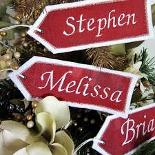 embroidered christmas personalized embroidered christmas name tags