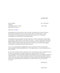 Notice To Vacate Apartment Letter Letter Of Eviction Sample