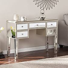 Mirrored Console Table Amazon Com Southern Enterprises Mirage Mirrored 2 Drawer Media