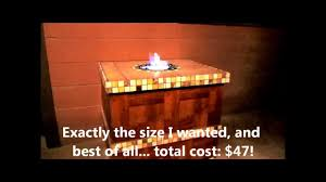 home built ethanol fire pit table youtube