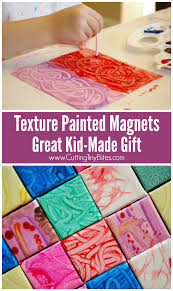 texture painted magnets kid made gift what can we do with paper