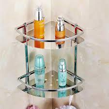 Bathroom Corner Shelving Stainless Steel 304 Bathroom Corner Shelf Shower Room Rack For