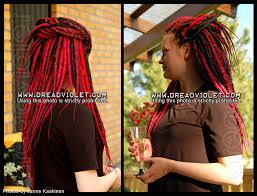 installing extension dreads in short hair synthetic dreads dreadviolet hair creations