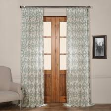 zebra print sheer curtain