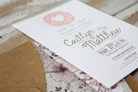 Wedding Invitation Printing Little Peach Playful Floral Letterpress