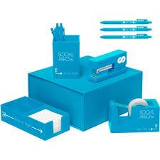 aqua blue desk accessories full color vibrant custom desk accessories set epromos