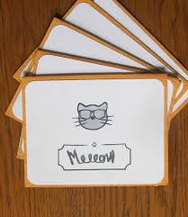 cat stationary friendship cards cat stationery cards
