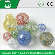 wholesale small clear colored glass marble balls for decoration