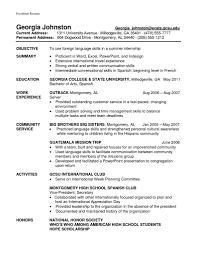 College Freshman Resume Language Proficiency Resume Free Resume Example And Writing Download