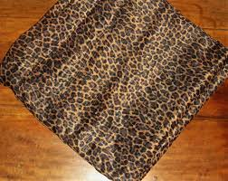 croscill sheer leopard cheetah window scarf valance black gold