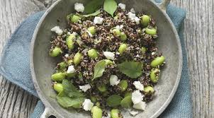 quinoa cuisine quinoa edamame salad recipe with feta and mint