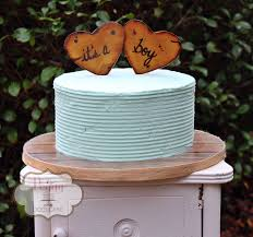 rustic buttercream baby shower cake with fondant
