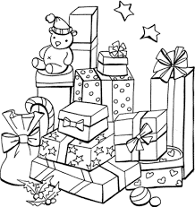 coloring pictures of christmas presents christmas present coloring pages 27 coloring pages presents ribbon
