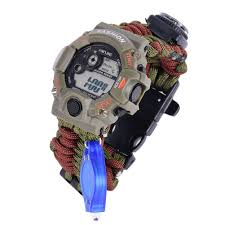 survival bracelet watches images Sizet survival paracord bracelet with digital watch jpg
