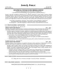 Business Management Resume Sample by Resume Sample Professional Business Operations Manager Examples
