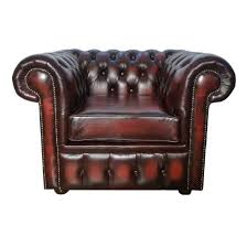 Pre Owned Chesterfield Sofa by Chesterfield Antique Ox Blood Red Genuine Leather Club Chair Sofa