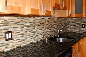 Kitchen Glass And Stone Backsplash Blue Tile For Uotsh - Stone backsplash