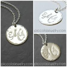 Monogram Initials Necklace Monogram Necklace Canada Sterling Silver Disc Pendant With
