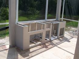 outdoor kitchen island tremendous metal framing for outdoor kitchen with simple design for