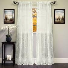24 Inch Kitchen Curtains Sheer Voile Vertical Ruffle Window Kitchen Curtain 24 Inch 36