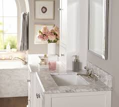 ultimate double sink storage console with hutch pottery barn