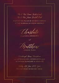 burgundy wedding invitations burgundy metallic wedding invitations