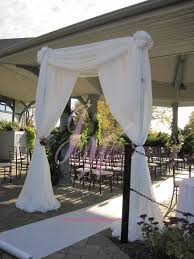 wedding arches square garden silk arch square white chiffon arch