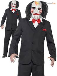 mens saw jigsaw puppet costume adults officially licensed fancy