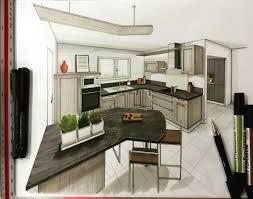 cuisine architecture draw sketch dessin handsketch kitchen cuisine
