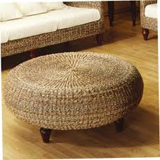 Seagrass Storage Ottoman Interesting Rattan Storage Ottoman With Household Essentials