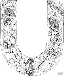 letter u coloring pages free coloring pages