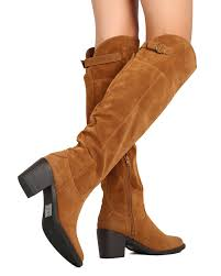 womens motorcycle riding boots with heels shoes qupid fd96 women faux suede over the knee harness chunky